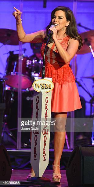 Recording Artist Robin Meade performs at The Grand Ole Opry on June 7 2014 in Nashville Tennessee Images