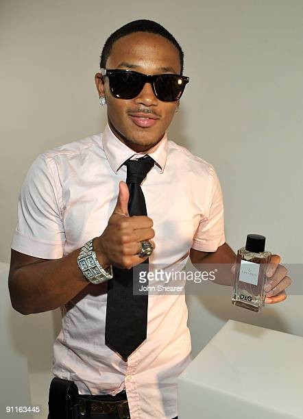 Recording artist Romeo poses with the DG fragrance bar during the 7th Annual Teen Vogue Young Hollywood Party held at Milk Studios on September 25...