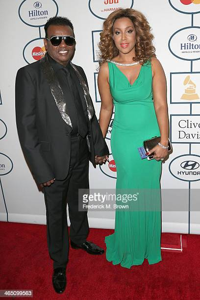 Recording artist Ron Isley and Kandy Isley attend the 56th annual GRAMMY Awards Pre-GRAMMY Gala and Salute to Industry Icons honoring Lucian Grainge...