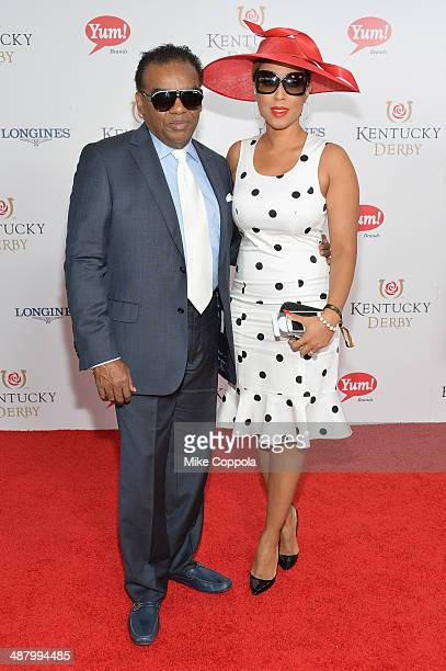 Recording artist Ronald Isley and Kandy Johnson Isley attend 140th Kentucky Derby at Churchill Downs on May 3, 2014 in Louisville, Kentucky.