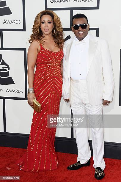 Recording artist Ronald Isley and Kandy Johnson Isley attend the 56th GRAMMY Awards at Staples Center on January 26 2014 in Los Angeles California