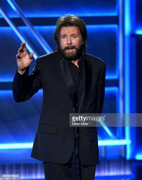 Recording artist Ronnie Dunn speaks onstage during the 52nd Academy of Country Music Awards at TMobile Arena on April 2 2017 in Las Vegas Nevada