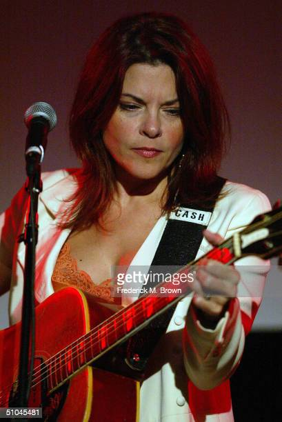 Recording artist Rosanne Cash performs during the PBS Summer Television Critics Association Press Tour at the Westin Century Plaza Hotel on July 9...