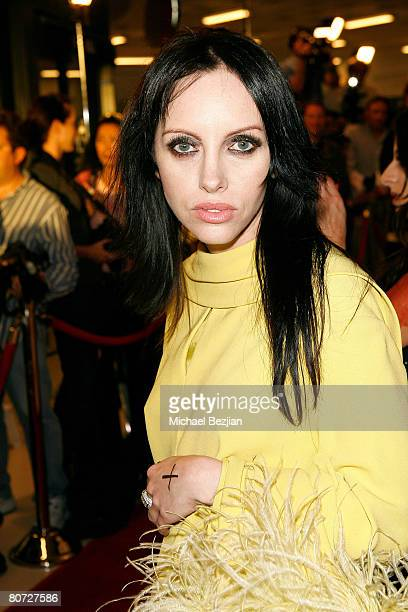 Recording artist Roxy Saint arrives at the Triumph Films' Los Angeles Premiere of Zombie Strippers at The Landmark Theatre on April 15 2008 in Los...