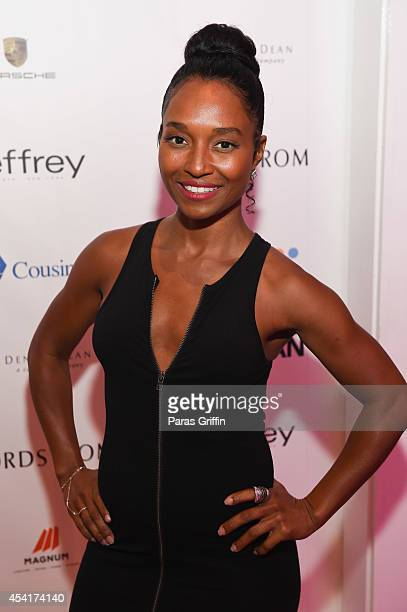 Recording artist Rozonda 'Chilli' Thomas of TLC attends the 2014 Jeffrey Fashion Cares at American Cancer Society Center on August 25 2014 in Atlanta...