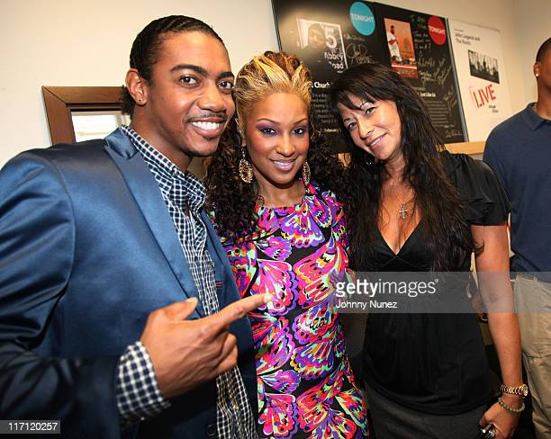 Recording artist Rudy Currence singer Olivia and director of urban artist relations at iTunes ThuyAn Julien attend the Apple Store Soho on June 22...
