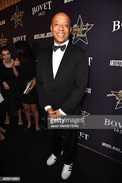 Recording artist Russell Simmons attends the 8th annual Hollywood Domino Gala presented by BOVET 1822 benefiting Artists for Peace and Justice at the...