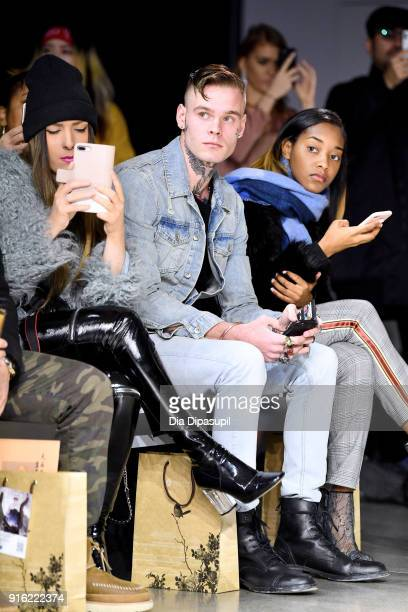 Recording artist Russian Roulette and Shaniah Mauldin attend the Just In XX presentation during New York Fashion Week: The Shows at Gallery II at...