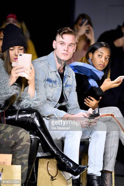 Recording Artist Russian Roulette and Shaniah Mauldin sit front row at the Just In XX presentation during New York Fashion Week: The Shows at Gallery...