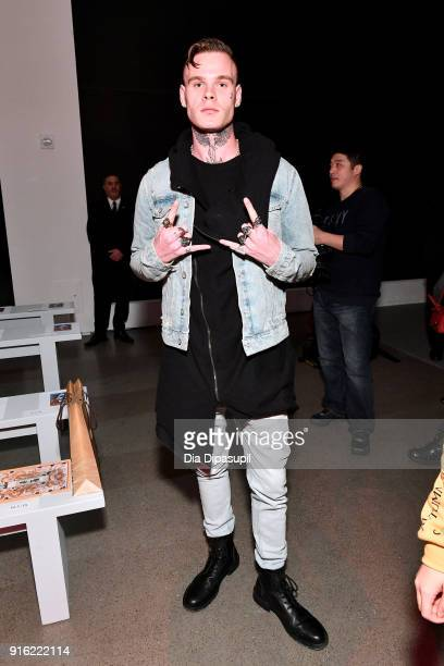Recording artist Russian Roulette attends the Just In XX presentation during New York Fashion Week: The Shows at Gallery II at Spring Studios on...