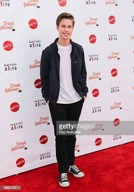 Recording Artist Ryan Beatty attends Keep A Child Alive's 20th Annual Dream Halloween Arrivals at Barker Hangar on October 26 2013 in Santa Monica...