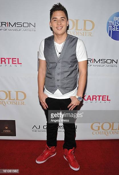 """Recording artist Ryan Stylez arrives at BET Network's Music Matters Showcase """"Lipstick On The Mic"""" at Belasco Theatre on February 8, 2013 in Los..."""
