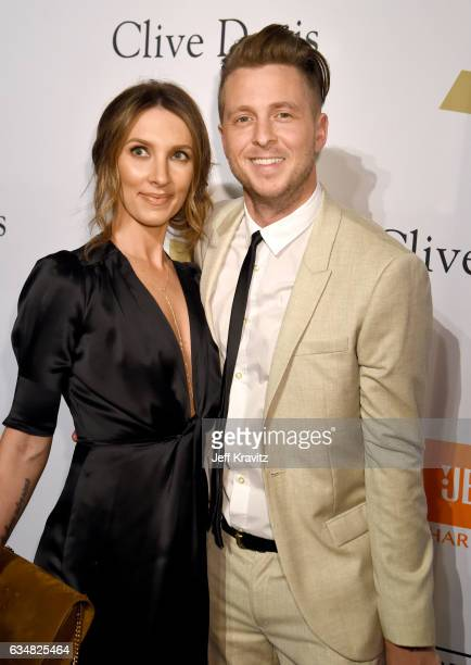 Recording artist Ryan Tedder and Genevieve Tedder attend the 2017 PreGRAMMY Gala And Salute to Industry Icons Honoring Debra Lee at The Beverly...