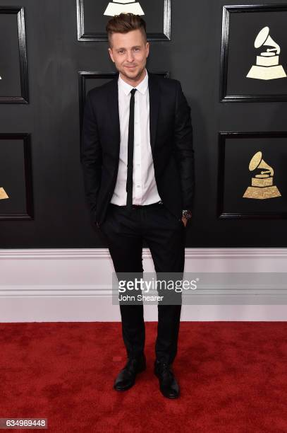 Recording artist Ryan Tedder of music group OneRepublic attends The 59th GRAMMY Awards at STAPLES Center on February 12 2017 in Los Angeles California