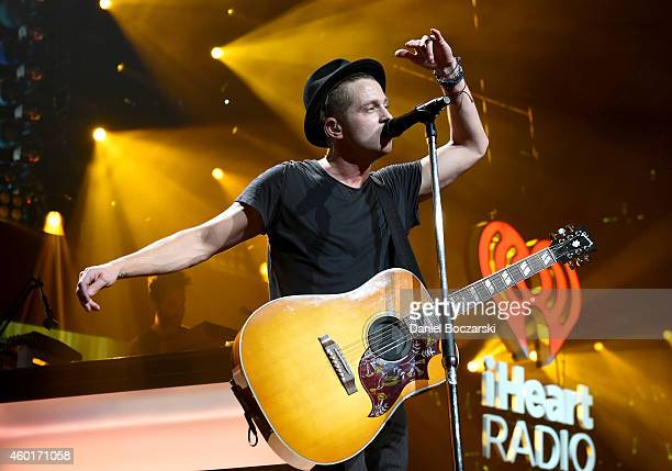 Recording artist Ryan Tedder of music group OneRepublic performs onstage at 1013 KDWB's Jingle Ball 2014 presented by Sky Zone Indoor Trampoline Park...