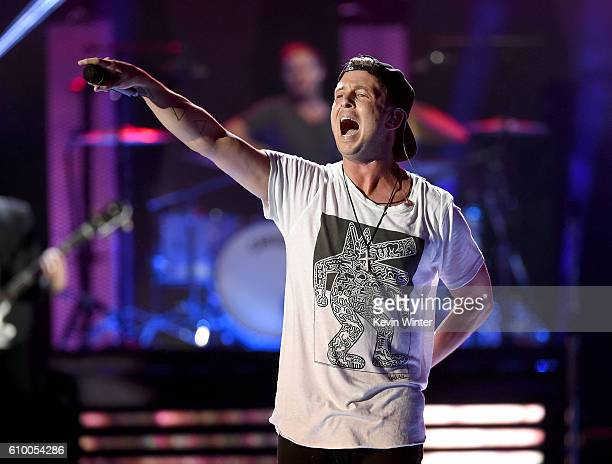 Recording artist Ryan Tedder of music group OneRepublic performs onstage at the 2016 iHeartRadio Music Festival at T-Mobile Arena on September 23,...