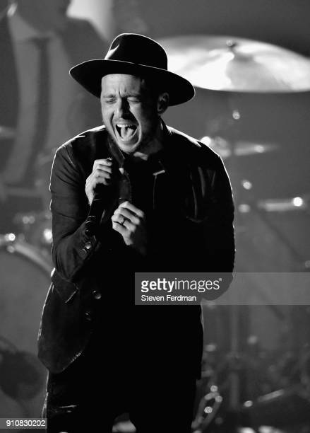 Recording artist Ryan Tedder of music group OneRepublic performs onstage during MusiCares Person of the Year honoring Fleetwood Mac at Radio City...
