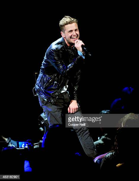 Recording artist Ryan Tedder of OneRepublic performs onstage during 1061 KISS FM's Jingle Ball 2013 at American Airlines Center on December 2 2013 in...