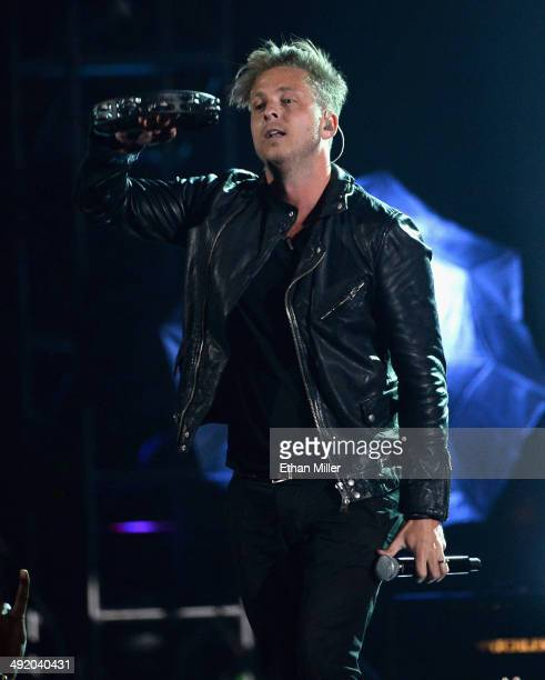 Recording artist Ryan Tedder of OneRepublic performs onstage during the 2014 Billboard Music Awards at the MGM Grand Garden Arena on May 18 2014 in...