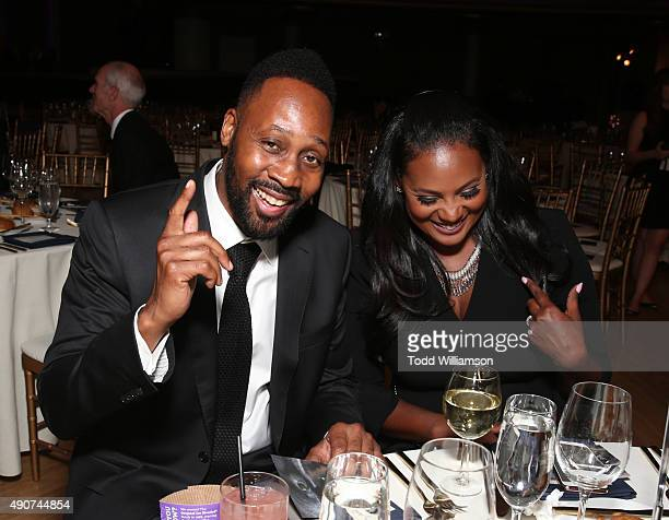 Recording artist RZA and Talani Rabb attend PETA's 35th Anniversary Party at Hollywood Palladium on September 30 2015 in Los Angeles California