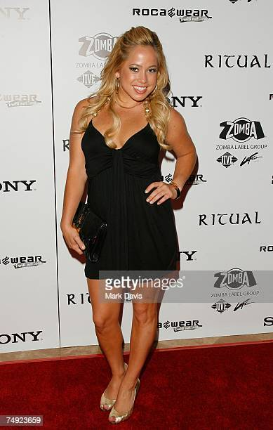 Recording artist Sabrina Bryan arrives to Zomba Label Group's PreBET Awards Party featuring Ciara held at Ritual Nightclub on June 25 2007 in...