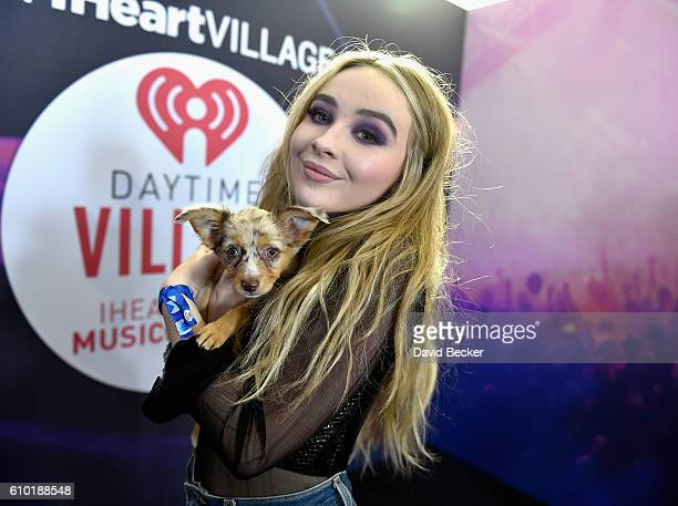 Recording artist Sabrina Carpenter attends the 2016 Daytime Village at the iHeartRadio Music Festival at the Las Vegas Village on September 24 2016...