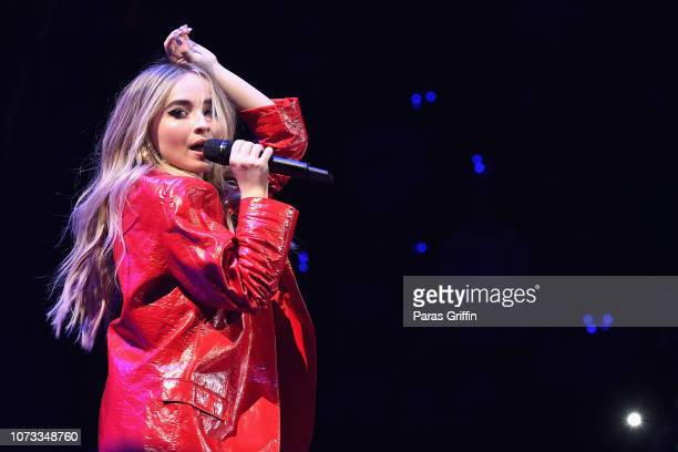 Recording artist Sabrina Carpenter performs onstage during Power 961's Atlanta Jingle Ball on December 14 2018 in Atlanta Georgia