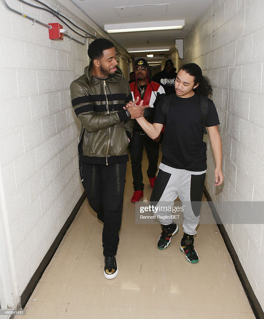 Recording artist Sage The Gemini (L) visits 106 & Park at BET studio on March 24, 2014 in New York City.