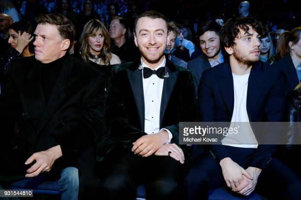 Recording artist Sam Smith and actor Brandon Flynn attend the 60th Annual GRAMMY Awards I'm Still Standing A GRAMMY Salute To Elton John at the...