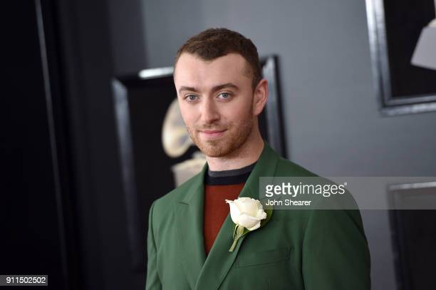 Recording artist Sam Smith attends the 60th Annual GRAMMY Awards at Madison Square Garden on January 28 2018 in New York City