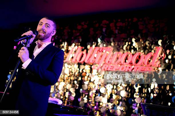 Recording artist Sam Smith performs at The Hollywood Reporter's 4th Annual Nominees Night at Spago on February 8 2016 in Beverly Hills California