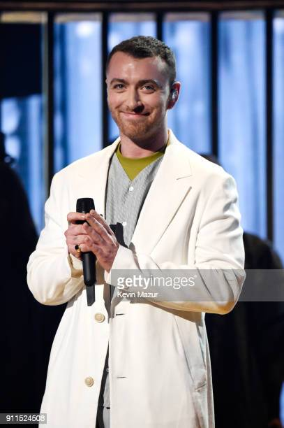 Recording artist Sam Smith performs onstage during the 60th Annual GRAMMY Awards at Madison Square Garden on January 28 2018 in New York City