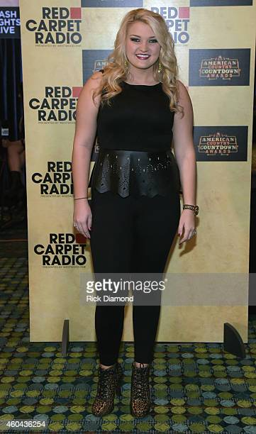 Recording Artist Samantha Landrum attends Red Carpet Radio Presented By Westwood One For The American County Countdown Awards at the Music City...