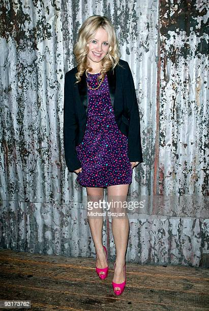 Recording artist Samantha Mollen attends the west coast launch of HeadCount Organization at the House of Blues on November 17 2009 in West Hollywood...