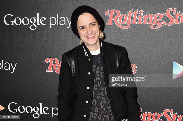 Recording artist Samantha Ronson attends Rolling Stone and Google Play event during Grammy Week at the El Rey Theatre on February 5 2015 in Los...