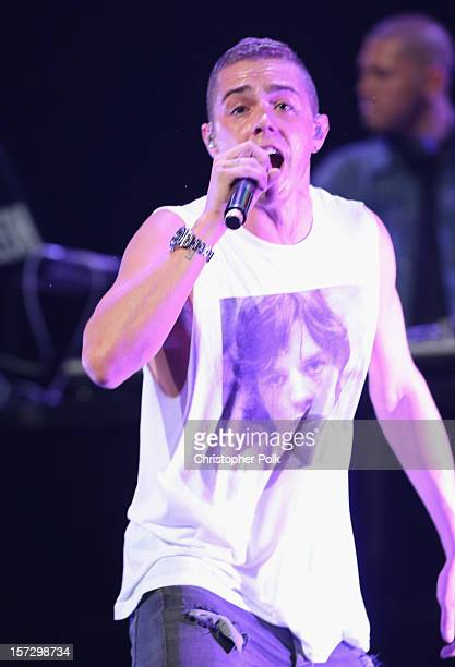 Recording artist Sammy Adams performs onstage during KIIS FM's 2012 Jingle Ball at Nokia Theatre LA Live on December 1 2012 in Los Angeles California