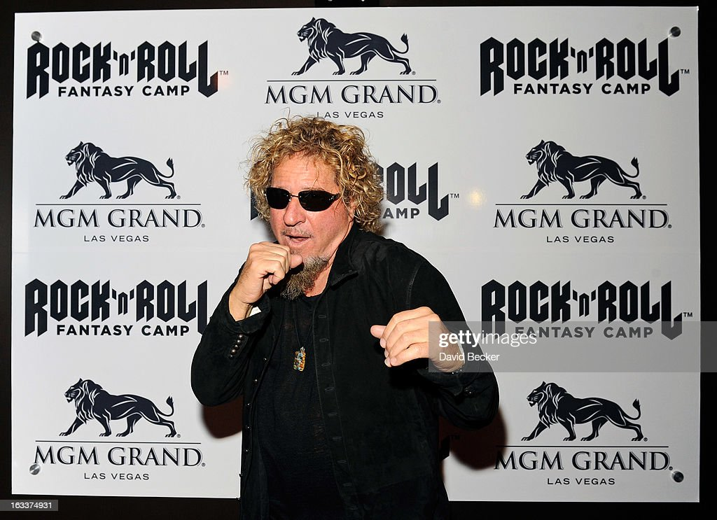 Recording artist Sammy Hagar appears at the Rock 'n' Roll Fantasy Camp at the MGM Grand Hotel/Casino on March 8, 2013 in Las Vegas, Nevada.