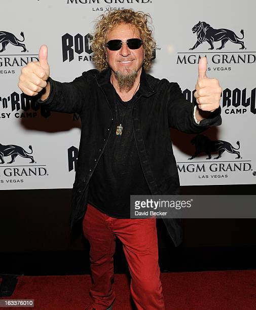 Recording artist Sammy Hagar appears at the Rock 'n' Roll Fantasy Camp at the MGM Grand Hotel/Casino on March 8 2013 in Las Vegas Nevada
