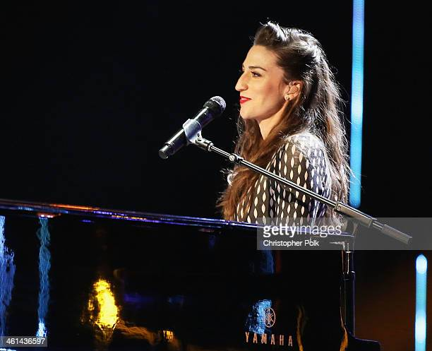 Recording artist Sara Bareilles performs onstage during The 40th Annual People's Choice Awards at Nokia Theatre LA Live on January 8 2014 in Los...