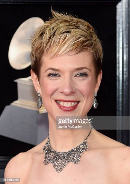 Recording artist Sara Caswell attends the 60th Annual GRAMMY Awards at Madison Square Garden on January 28 2018 in New York City