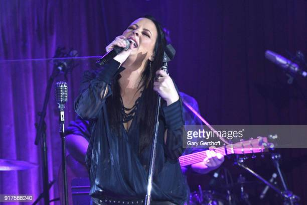 Recording artist Sara Evans performs during CMT Next Women of Country tour at BB King Blues Club Grill on February 12 2018 in New York City