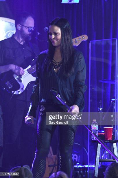 Recording artist Sara Evans performs during CMT Next Women of Country at BB King Blues Club Grill on February 12 2018 in New York City