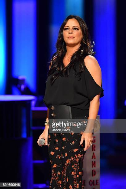 Recording Artist Sara Evans performs onstage at The Grand Ole Opry on June 10 2017 in Nashville Tennessee