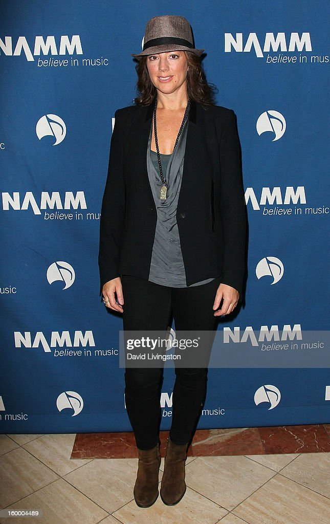 Recording artist Sarah McLachlan attends the 2013 NAMM Show - Day 1 at the Anaheim Convention Center on January 24, 2013 in Anaheim, California.