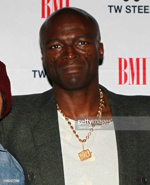 Recording artist Seal attends BMI's 'How I Wrote That Song' panel at Key Club on February 12 2011 in West Hollywood California