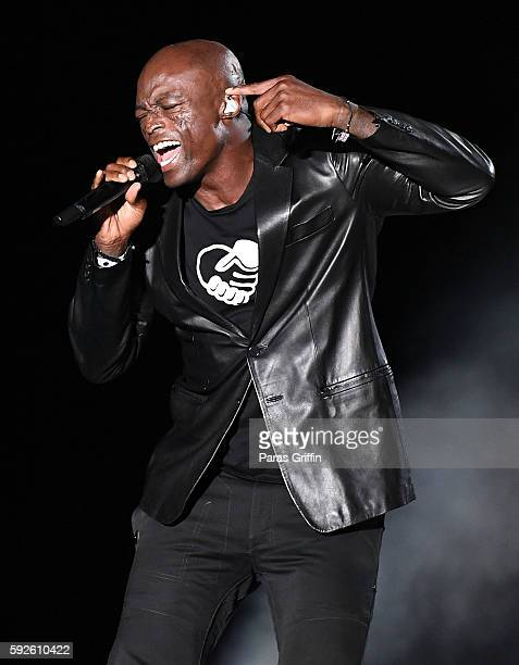 Recording artist Seal performs in concert at Chastain Park Amphitheater on August 20 2016 in Atlanta Georgia