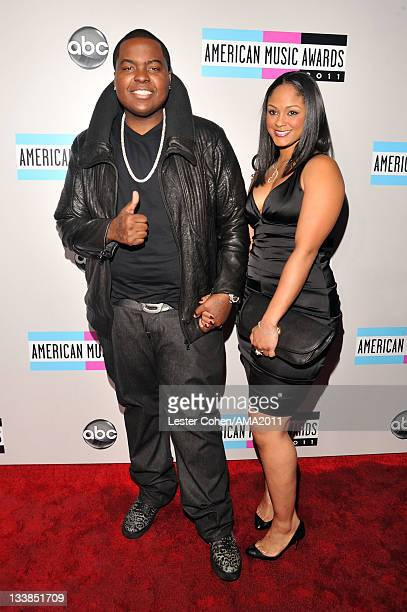 Recording artist Sean Kingston and Maliah Michel arrives at the 2011 American Music Awards held at Nokia Theatre LA LIVE on November 20 2011 in Los...
