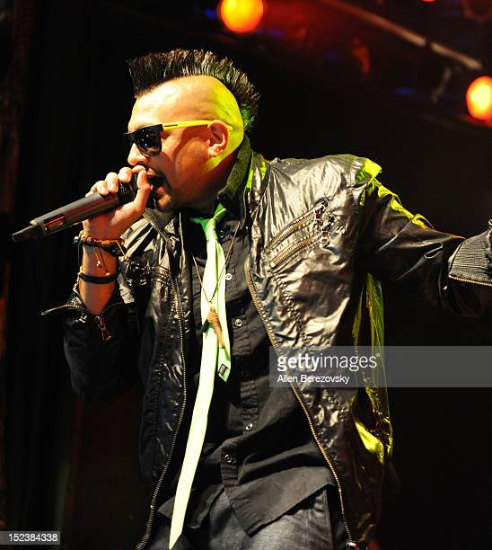 Recording artist Sean Paul performs on his 'Tomahawk Technique Tour' at the House of Blues Sunset Strip on September 19 2012 in West Hollywood...