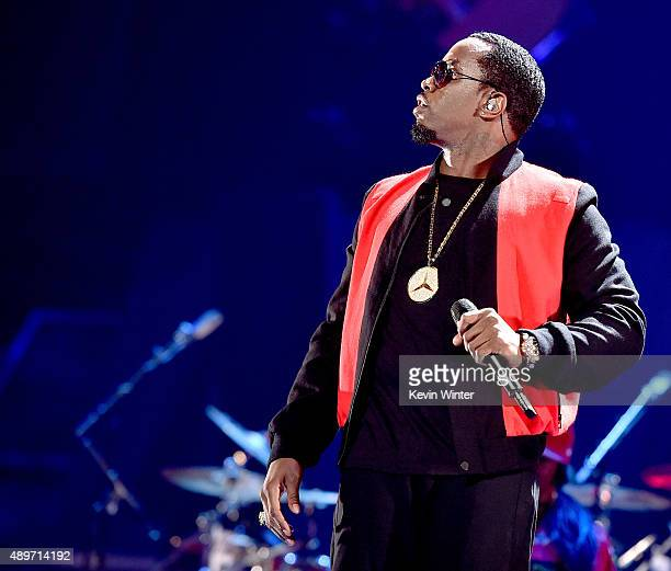 Recording artist Sean 'Puff Daddy' Combs performs at the 2015 iHeartRadio Music Festival at the MGM Grand Garden Arena on September 19 2015 in Las...