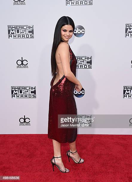 Recording artist Selena Gomez attends the 2015 American Music Awards at Microsoft Theater on November 22 2015 in Los Angeles California